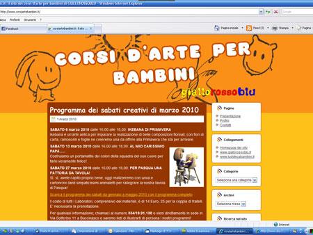 corsiartebambini.it: un sito di Giallorossoblu Laboratorio d'arte creativa