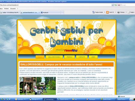 centriestivibambini.it: il sito del Laboratorio Giallorossoblu dedicato ai suoi centri e campus estivi per bambini
