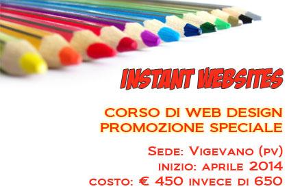 Corso base di Web Design a Vigevano (Pavia) in promozione