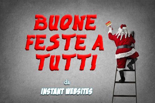 Auguri di Buone Feste da INSTANT WEBSITES